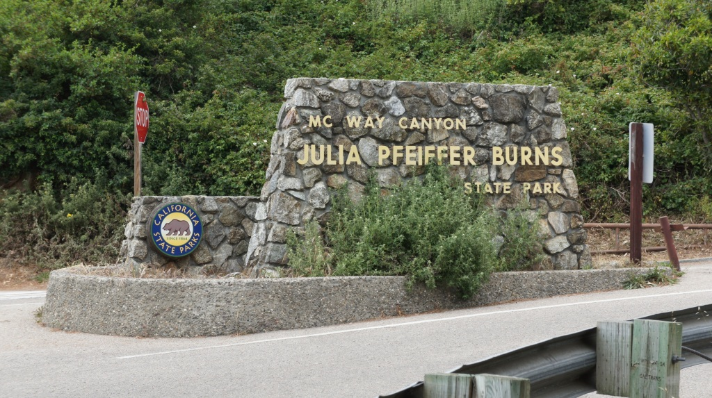 Entrada do Julia Pfeiffer Burns State Park - CA