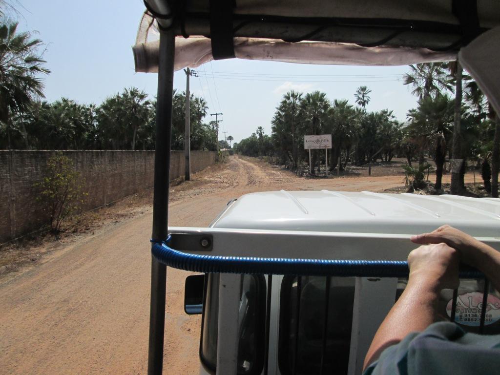 saída do hotel em direção ao Parque dos Lençóis